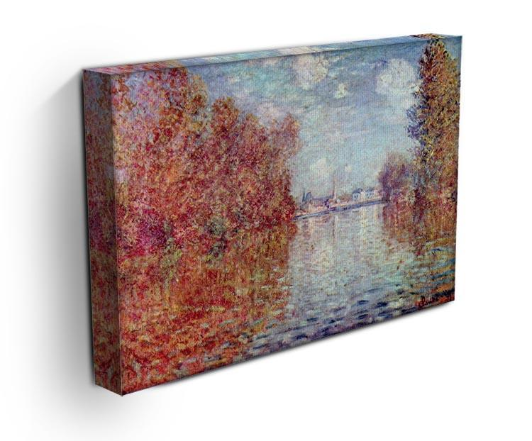 Autumn in Argenteuil by Monet Canvas Print & Poster - Canvas Art Rocks - 3