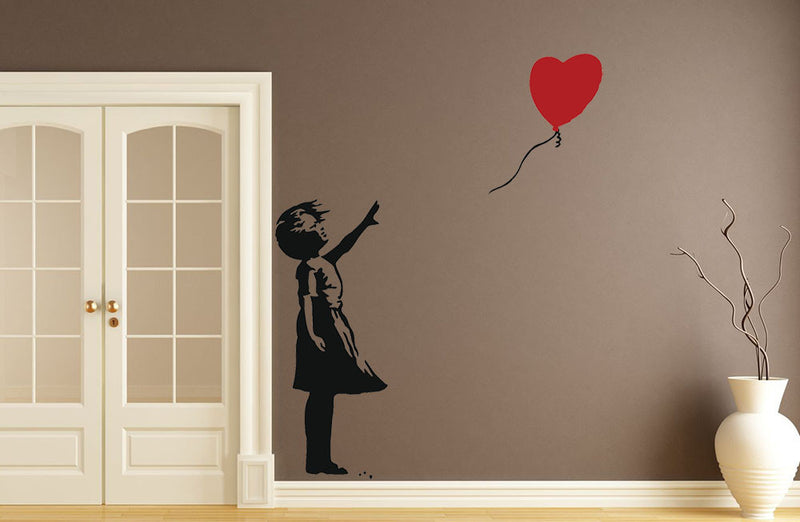 Banksy Balloon Heart Girl Wall Decal - US Canvas Art Rocks