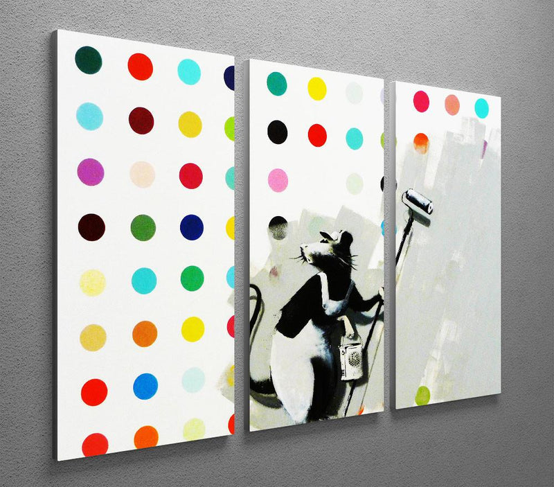 Banksy LSD Damien Hirst 3 Split Canvas Print - US Canvas Art Rocks