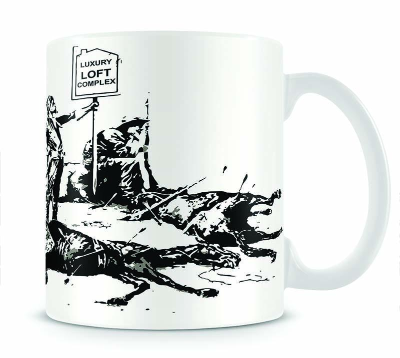 Banksy Luxury Loft Cup - Canvas Art Rocks - 1