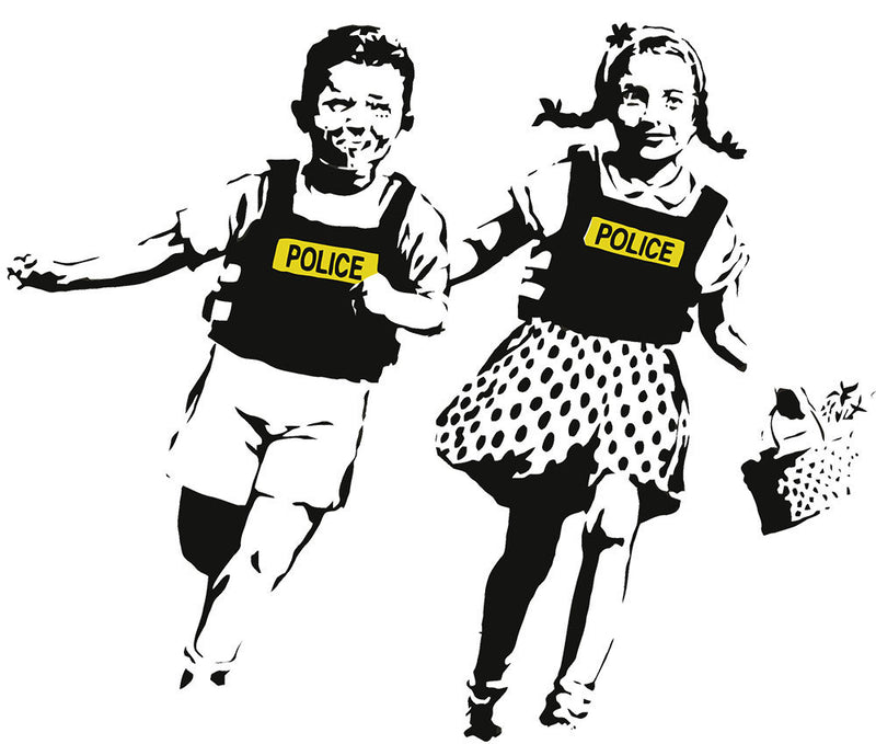 Banksy Police Kids Wall Decal - US Canvas Art Rocks