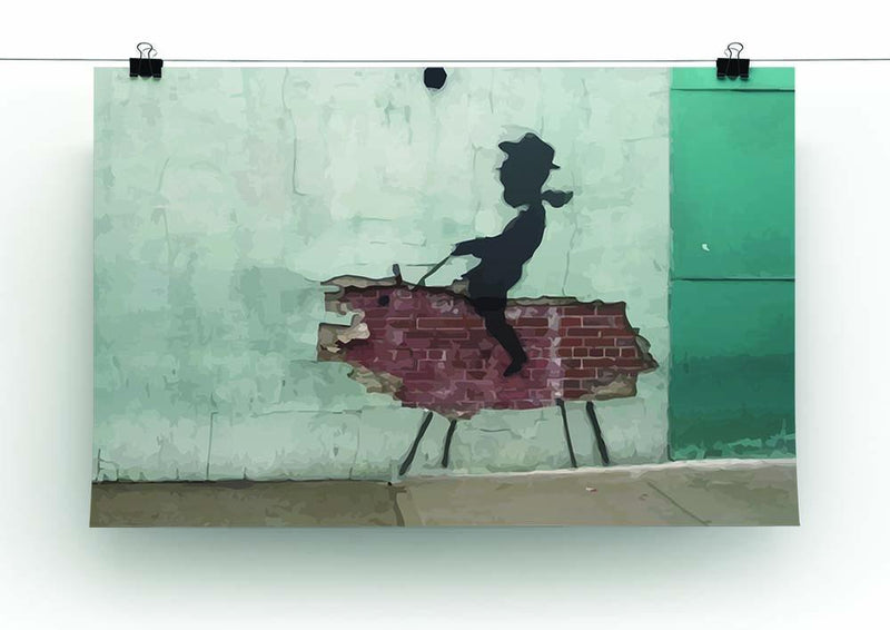 Banksy Rodeo Boy Canvas Print or Poster - Canvas Art Rocks - 2