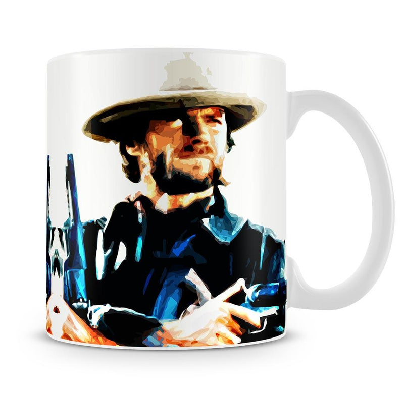 Clint Eastwood Spaghetti Western Cowboy Cup - US Canvas Art Rocks