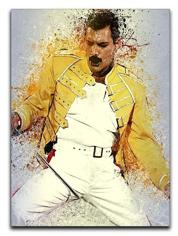 Freddie Mercury Splatter Canvas Print or Poster  - Canvas Art Rocks - 1