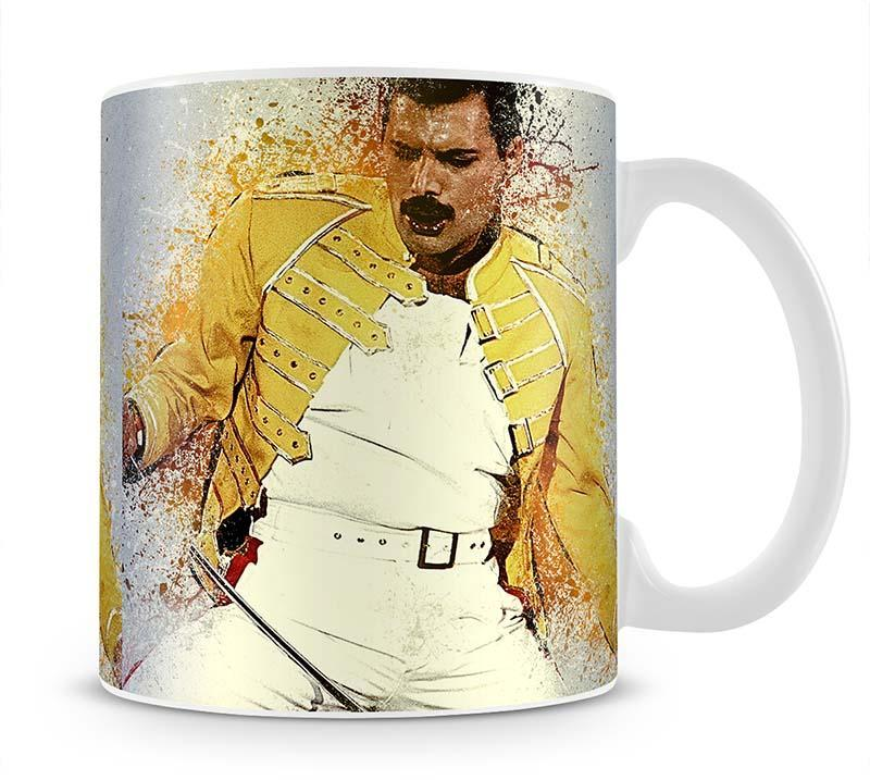 Freddie Mercury Splatter Cup - Canvas Art Rocks - 1