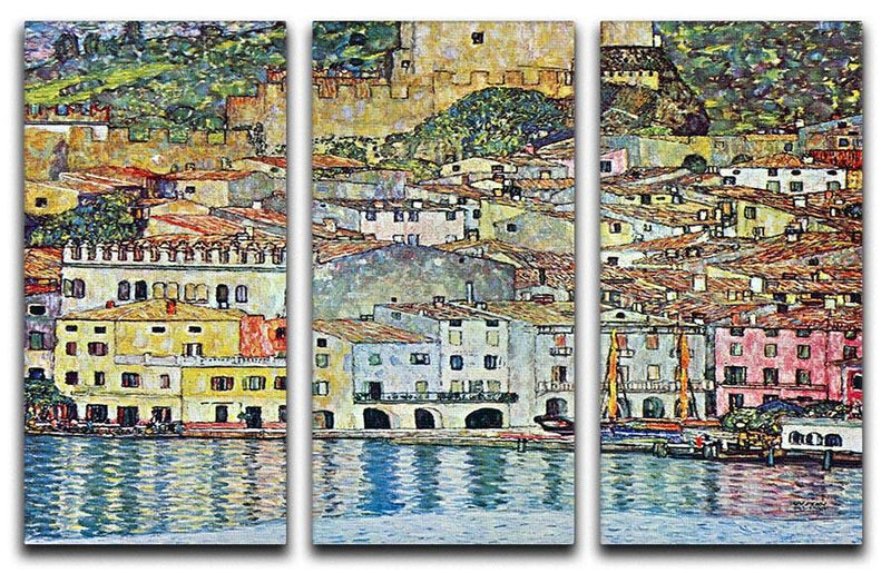 Malcena at the Gardasee by Klimt 3 Split Panel Canvas Print - Canvas Art Rocks - 1