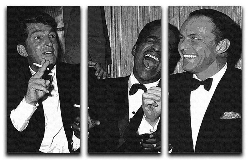 The Rat Pack Rocking With Laughter 3 Split Canvas Print - US Canvas Art Rocks