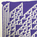 Rule 110 Scarf #430, Elementary Cellular Automata Knit - second