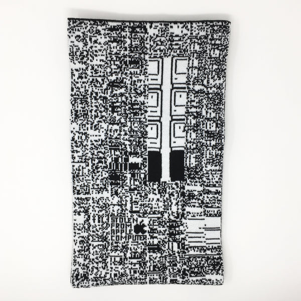 Half wrapped load icons, Apple IIsi  - Black and White Acrylic Scarf