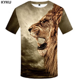 KYKU Brand Unicorn Shirt Rainbow Blue Horse Funny T-shirt Women Short Sleeve 3d Print Tshirt Summer Top Cool Clothing Hip Hop