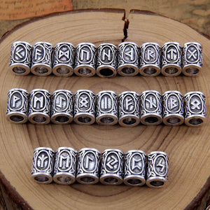 Rune Beads Set - 24 Pieces
