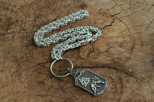 Handmade Odin's Wolf Valknut Necklace - Kings Chain
