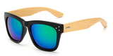 Bamboo Sunglasses - Black Frame Green Lens