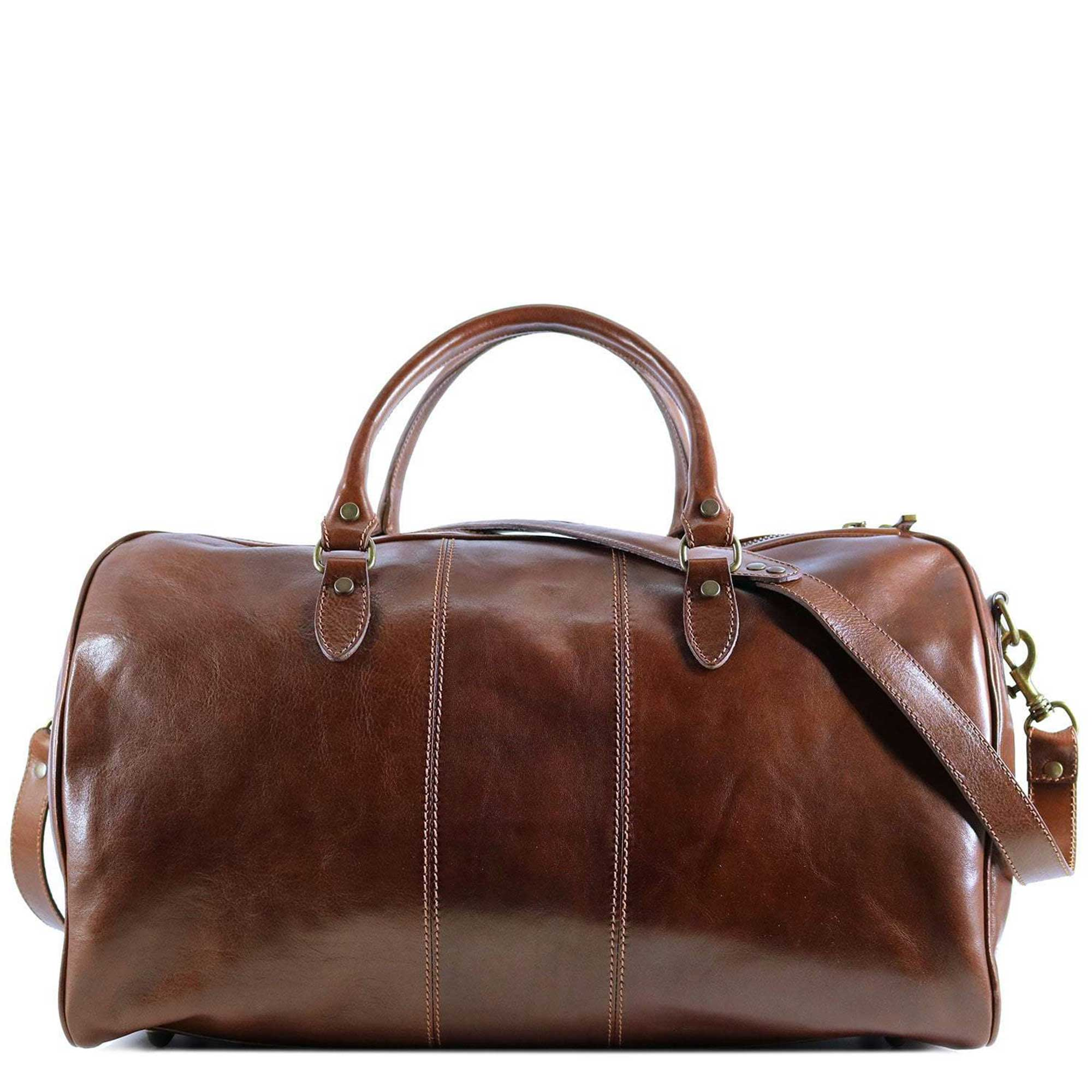 Vegetable Tanned Italian Leather Travel Garment Carryon Weekender Duffle Bags by Floto - offered by DiLoro Switzerland