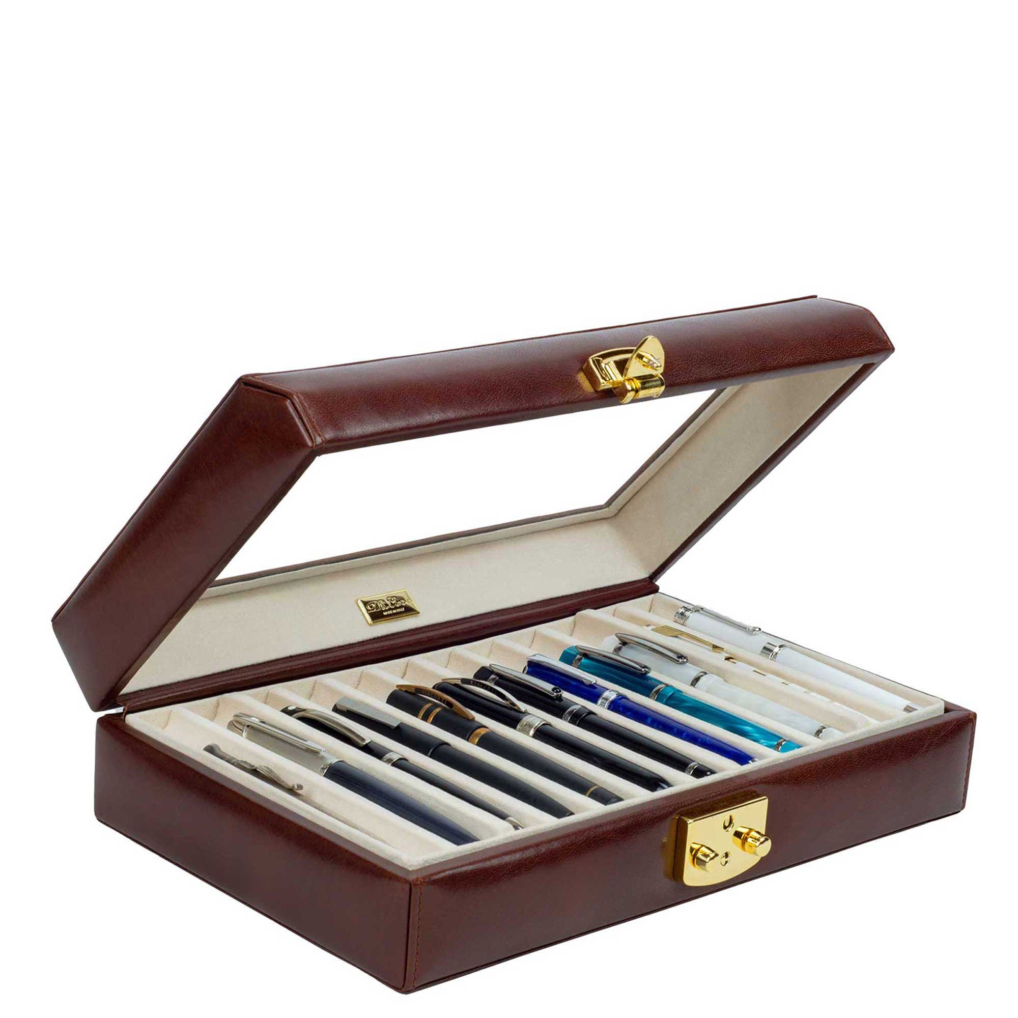 DiLoro Leather Pen Holders Cases Sleeves and more to keep your favorite fountain pen, ballpoint, rollerball or mechanical pencil safe during travel. Top Quality - Swiss Guarantee