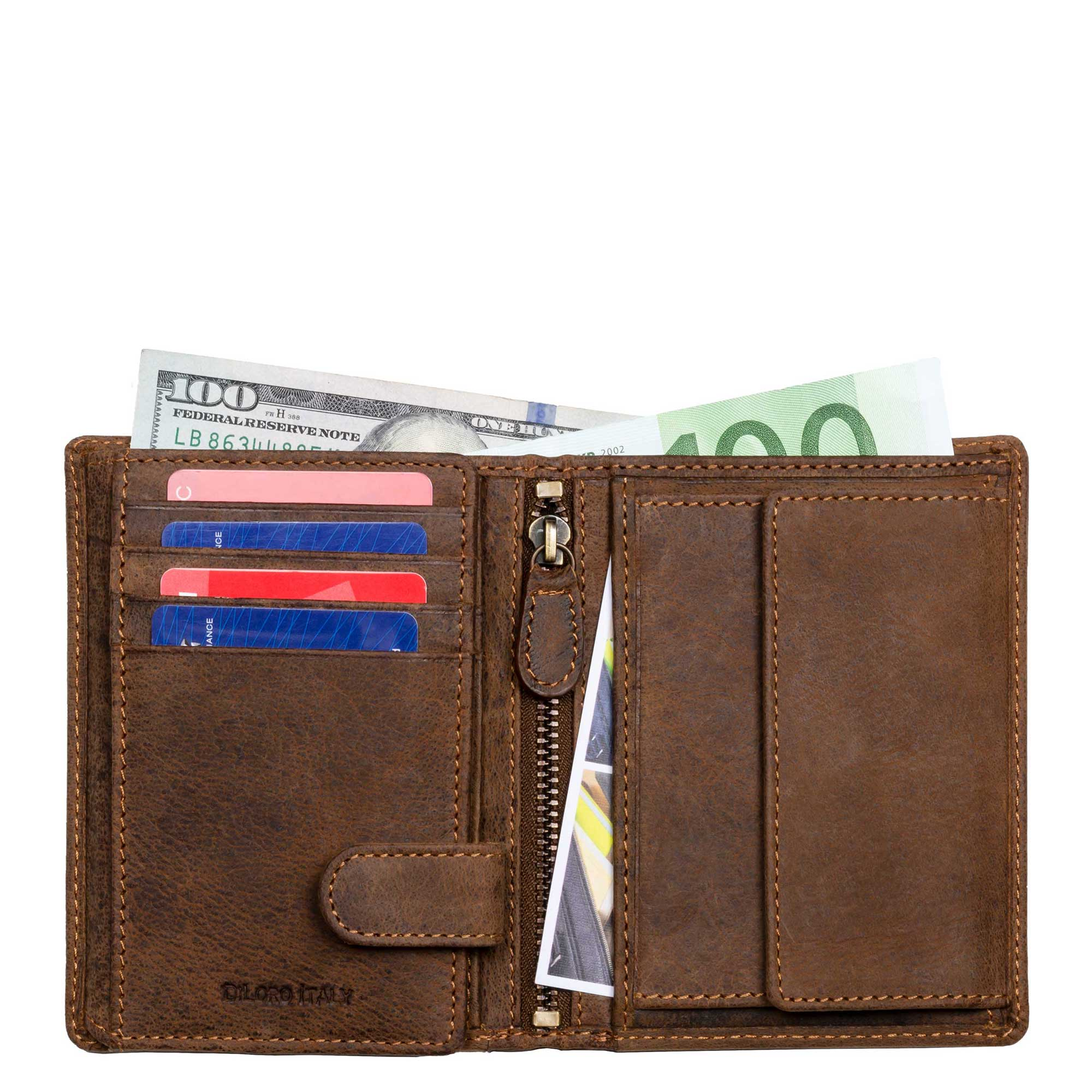 Fullsize to Minimalist Full Grain Leather Wallets by DiLoro Switzerland