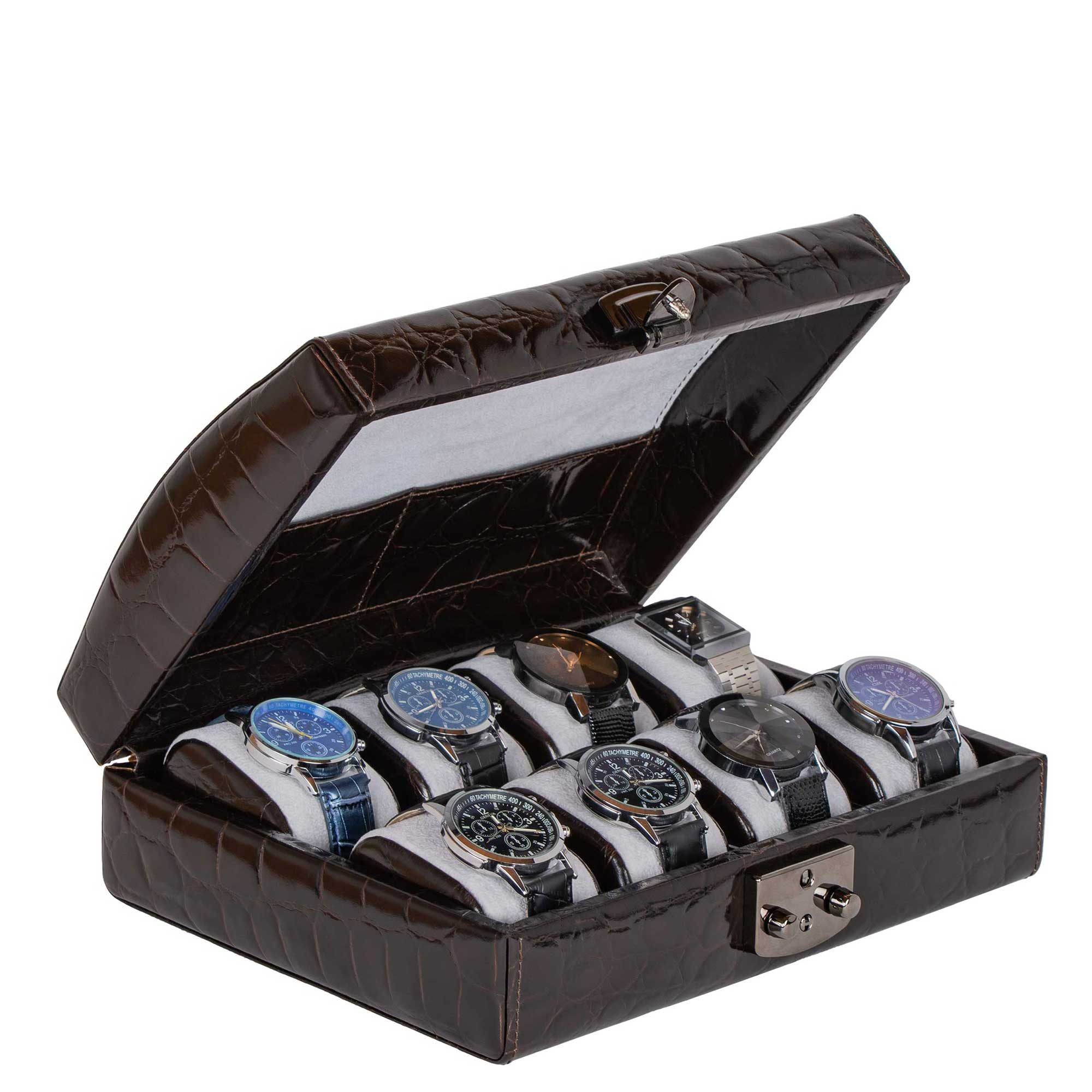 DiLoro Italian Leather Watch Cases 100% Authentic Made in Italy - Designed in Switzerland. Protect your favorite Rolex watch in a beautiful DiLoro leather travel watch case.
