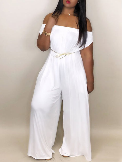 Off-Shoulder Slouchy Jumpsuit