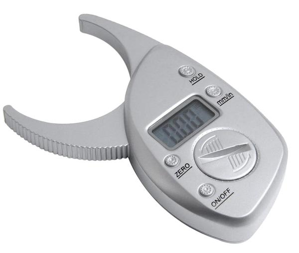A digital body fat caliper for measuring body fat
