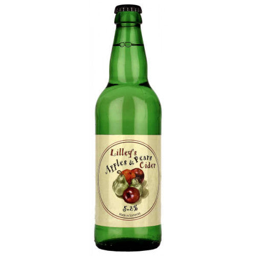 Lilley's Cider - Apples and Pears - Fruit Cider - 500ml Bottle