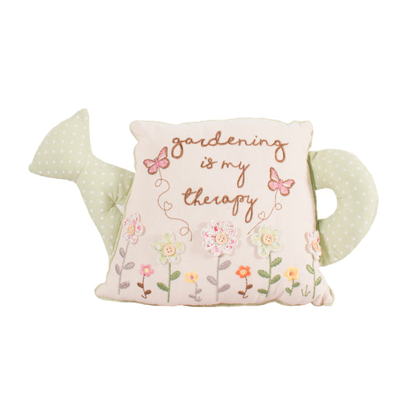 'Gardening Is My Therapy' Watering Can Cushion