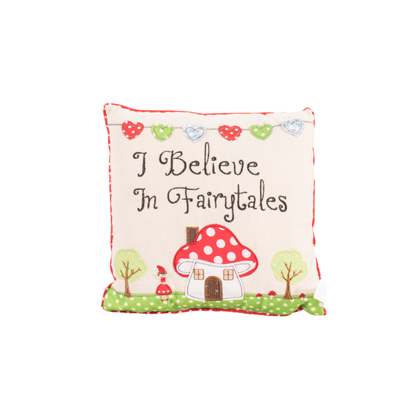 'I Believe In Fairytales' Fairytale Cushion