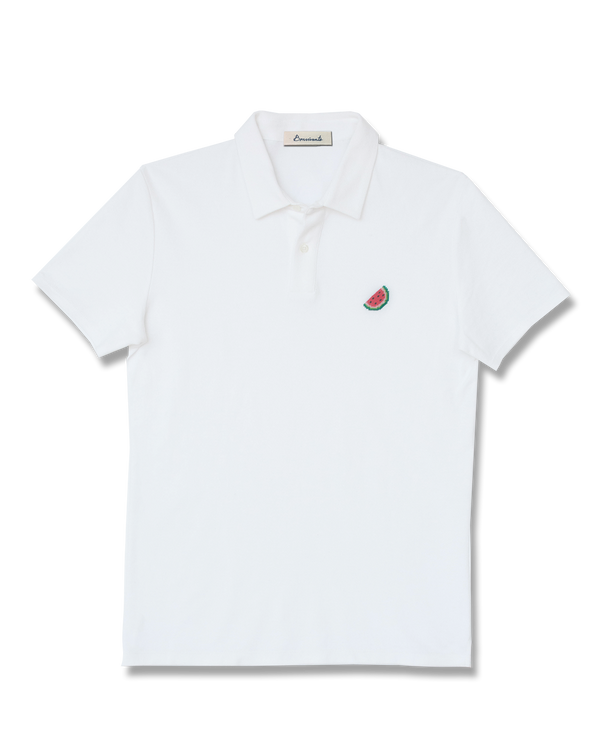 Needlepoint Watermelon Polo