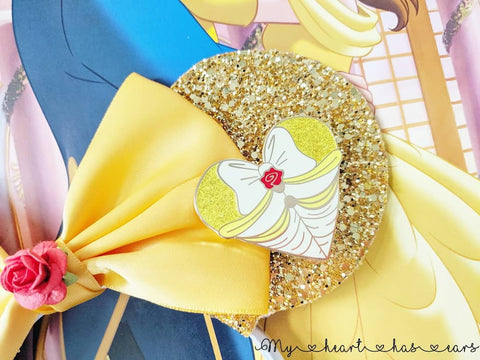 belle pin beauty and the beast pin