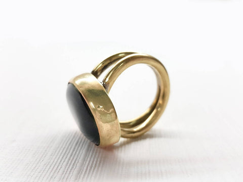 Handcrafted Agate stone ring stunning royal classic style for women made with Copper/ brass metal
