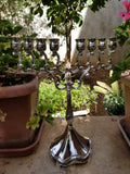 vintage home decor metal candle holder 6 arms