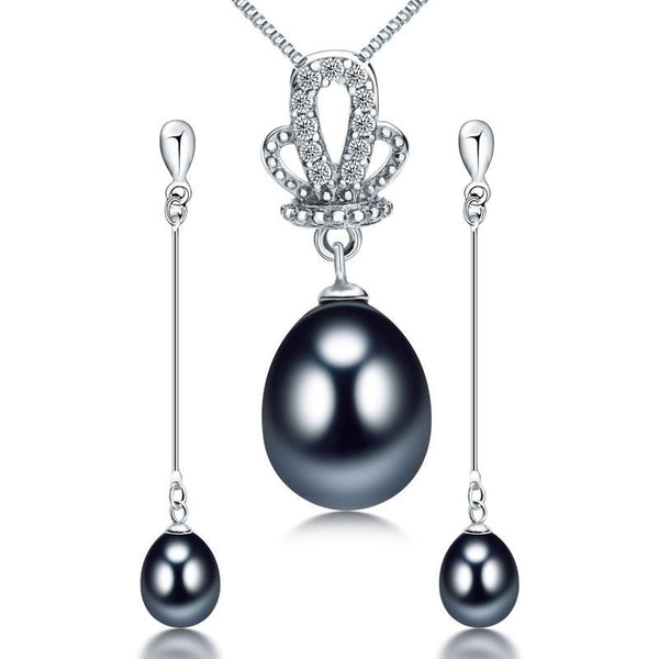 925 sterling silver natural freshwater pearl sets