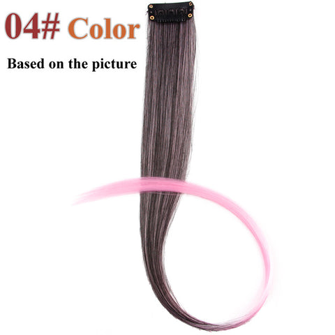 1 Piece 1 Clip In Synthetic Hair Extensions Ombre