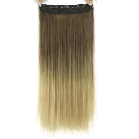 Long Straight Brown to Blonde NaturalOmbre Synthetic Hair