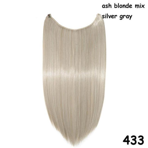 100% Real Natural Blonde Synthetic Hair