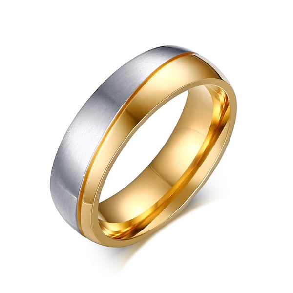 Wedding Rings For Lovers Gold-Color Stainless Steel  bh ``