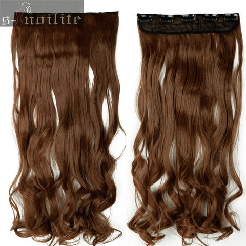 28 inches Curly Long Synthetic Full head Clip in Hair Extensions