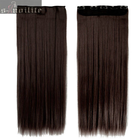 Long Hair Extensions One Piece Real Natural