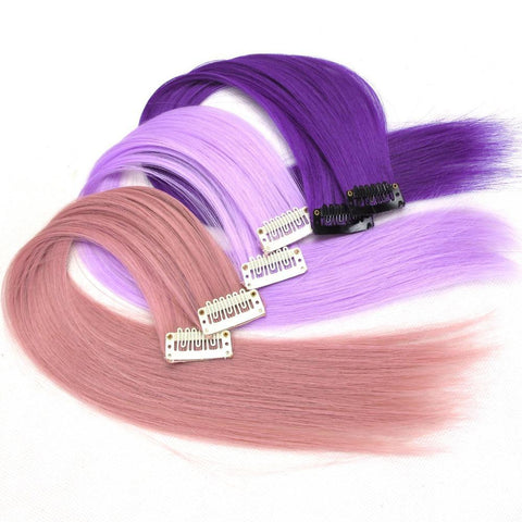 10pcs/lot Clip-in One Piece for Ombre Hair Extensions