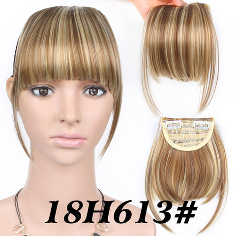 Neat Front False Fringe Clip In Bangs