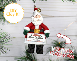DIY Classic Santa Claus ornament 2017