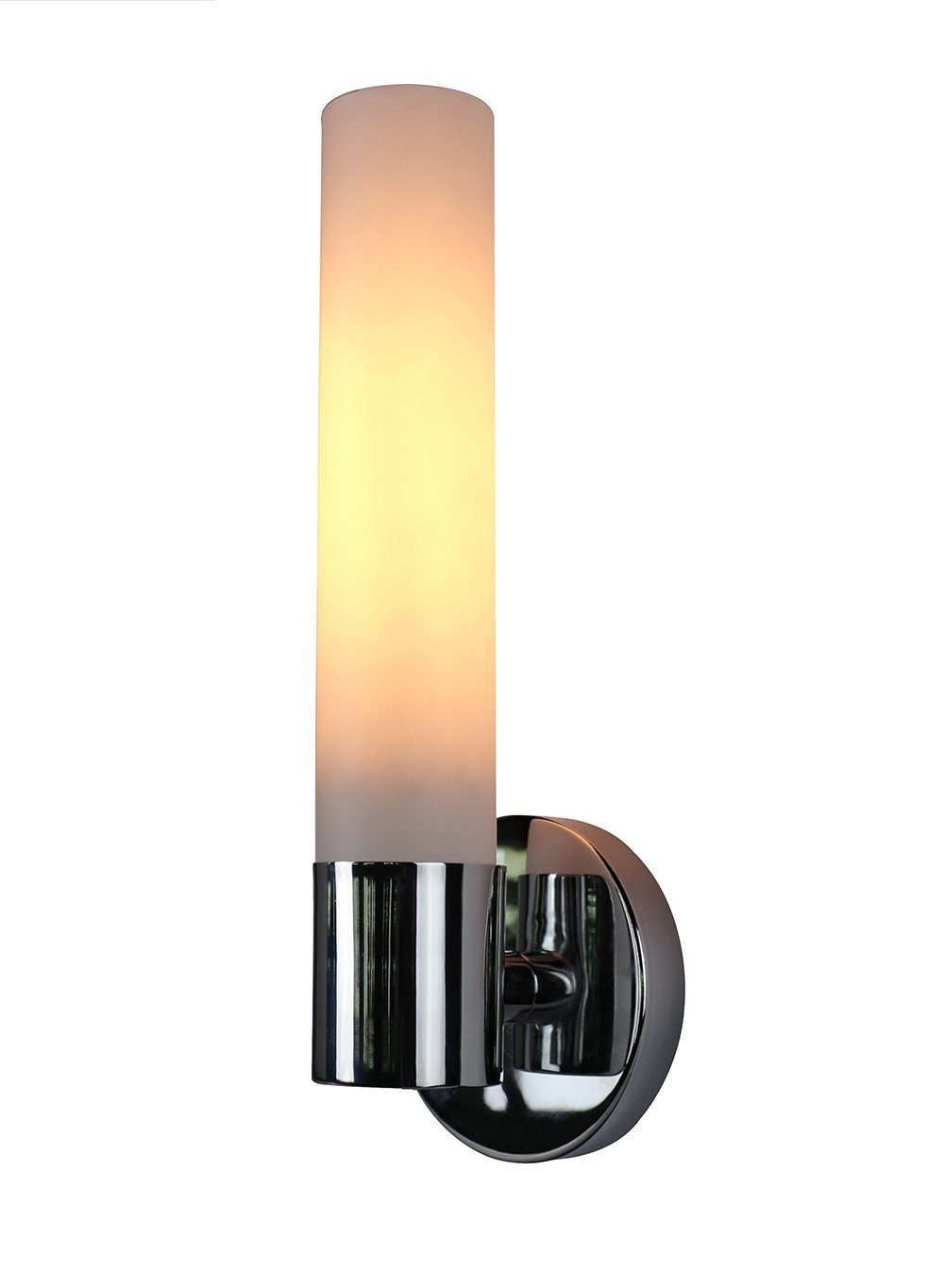 Enzo One-Light Wall Sconce Lamp with Frosted Glass Shade - 4 Finishes, Hardwired