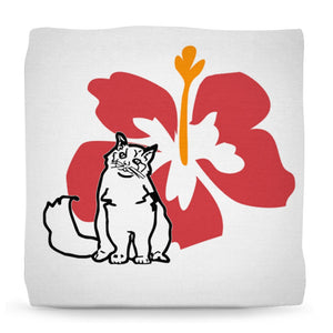 Ottoman - Cat Ottoman Pouf Footstool- Ragdoll Cats And Flowers