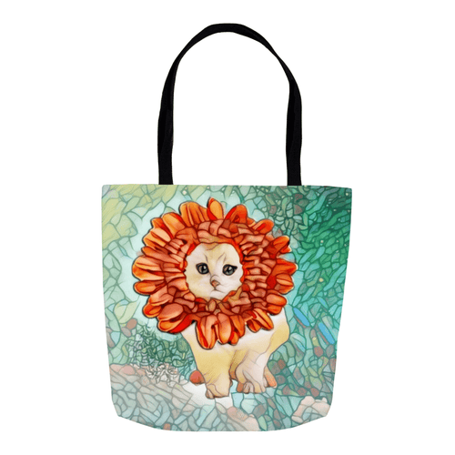 Tote Bag - Flower Kitten Art Nouveau Everything Tote Bag