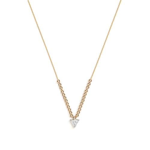Selin Kent 14K Maya Necklace with Trillion White Diamond