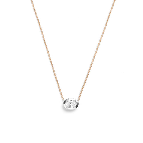 Selin Kent 14K Zadie Necklace with Oval White Diamond