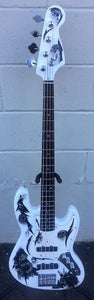 GAMMA Custom J17-02, Beta Model, Bruce Skull Bass, Polar White