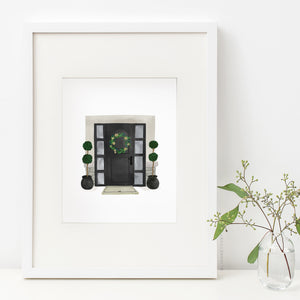 Black Door Art Print