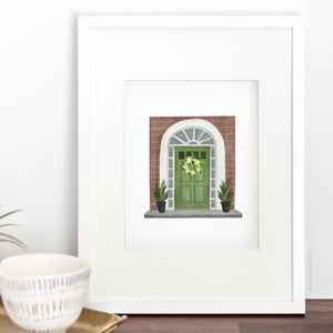 Green Door Art Print