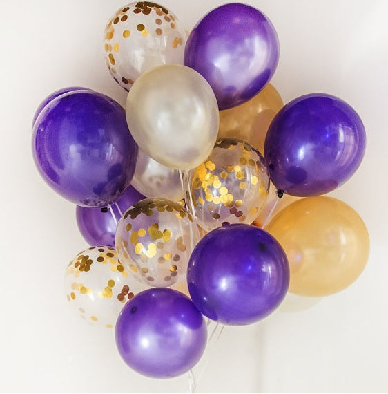 "Deco - 12"" Balloon Confetti Wedding Parties Decoration Set"