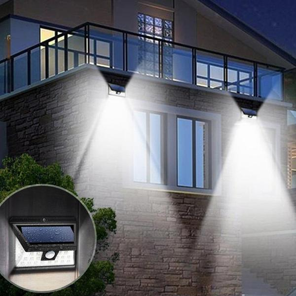 Outdoor Solar Powered Wide Angle Motion Sensor Security Light